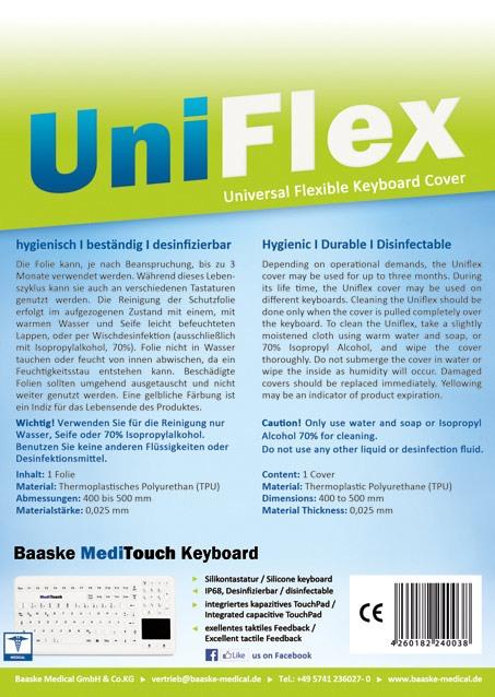 Hygieneschutz Tastatur UniFlex
